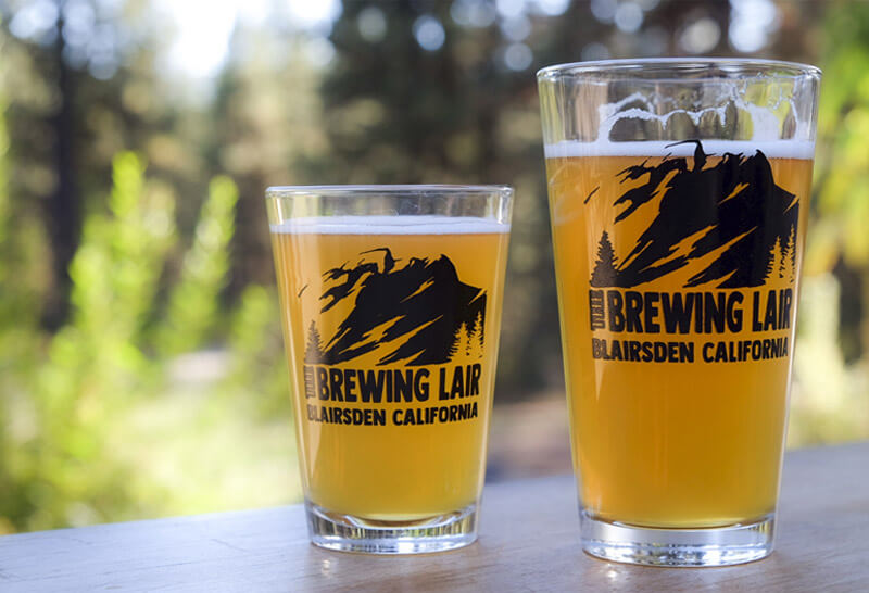 pint glasses demonstrating graphic design for small businesses