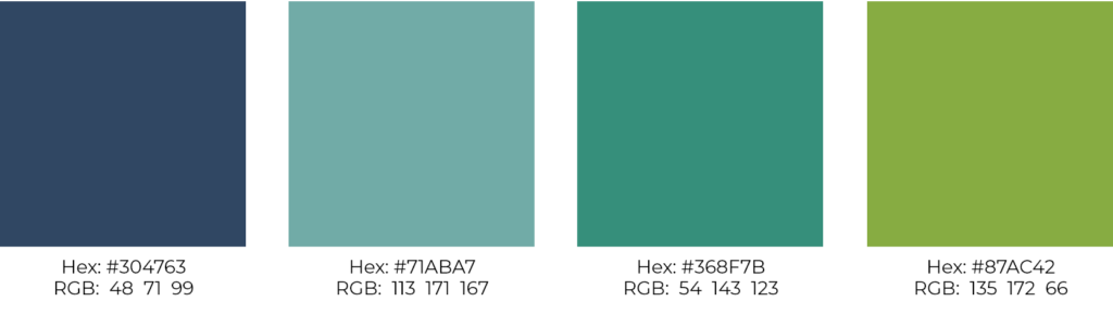 web color palette for nonprofit