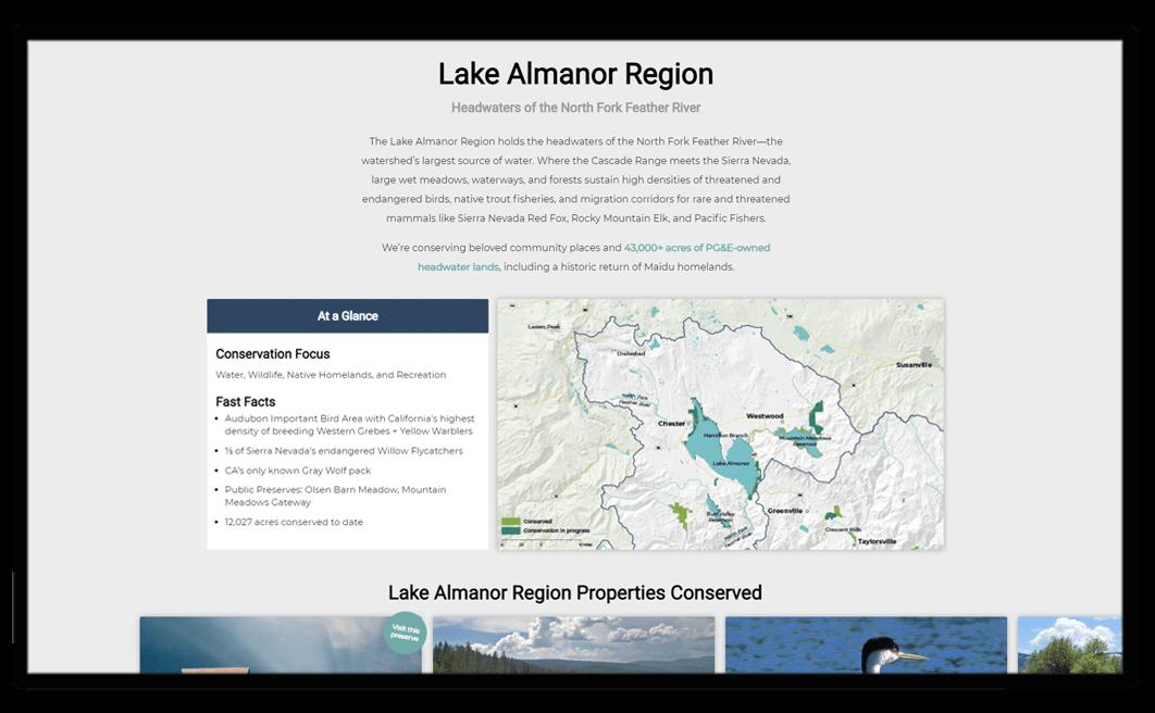 regional impact snapshot of website