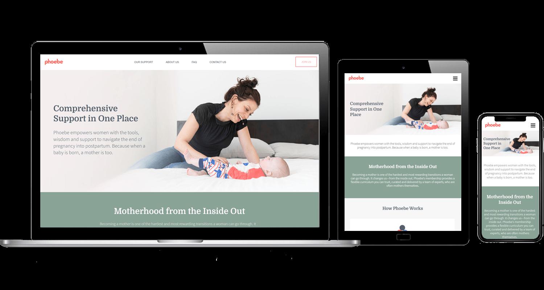 sample of a responsive website design for a startup